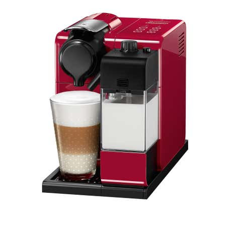 DeLonghi Nespresso Lattis Red Coffee Machine EN550R