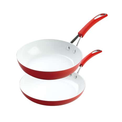 Silverstone Red Fry Pan Twin Pack