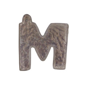 Mercury Glass Hanging Letter M