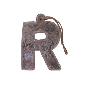 Mercury Glass Hanging Letter R