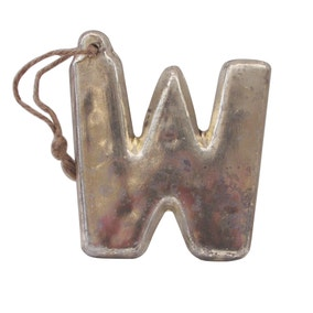 Mercury Glass Hanging Letter W