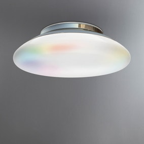 iDual Volta Chrome Ceiling Light with Remote Control
