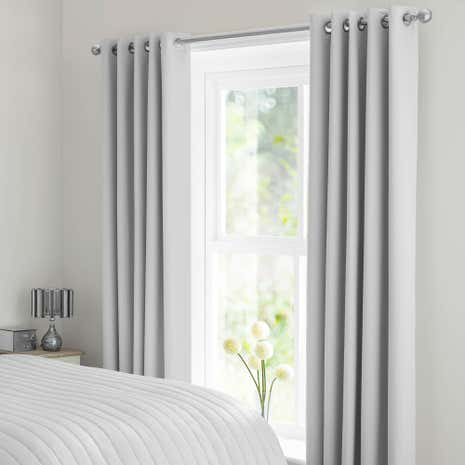 Light Grey Matt Satin Blackout Curtains