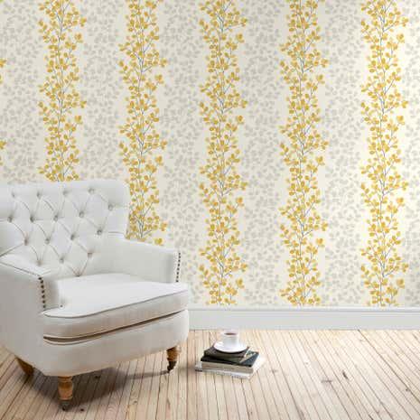 Bedroom Wallpaper Ochre