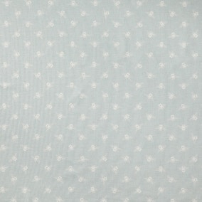 Bees Duck Egg PVC Fabric