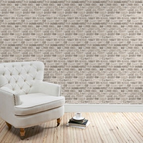 Brick Grey Wallpaper