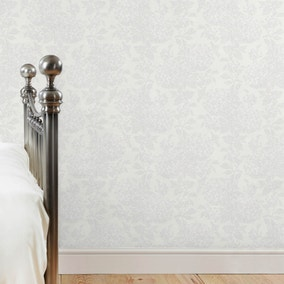 Dorma White Hydrangea Wallpaper