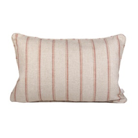 Dorma Toulon Striped Coral Cushion