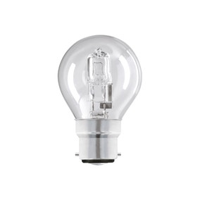 Pacl of 2 Dunelm 28 Watt Round Halogen Bayonet Cap Light Bulbs