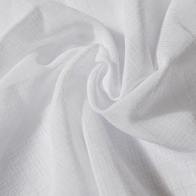 White Linen Look Fabric