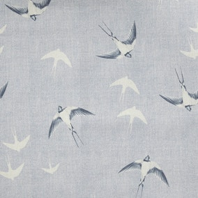Swallows Blue Fabric