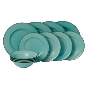 Gordon Ramsay Royal Doulton Teal Union Street Cafe 12 Piece Dinner Set