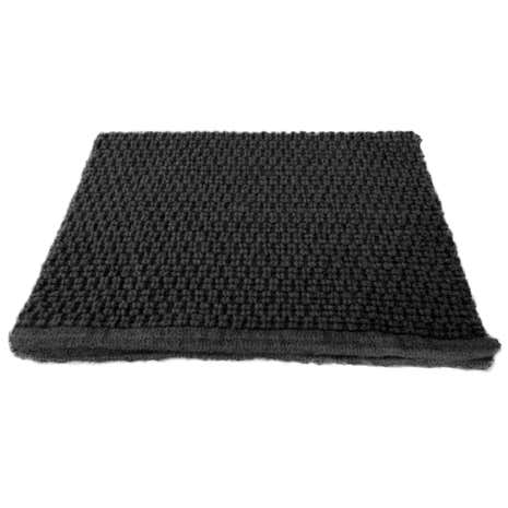 Black Simply Cotton Bath Mat