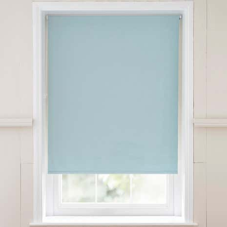 Chenille Duck Egg Thermal Roller Blind