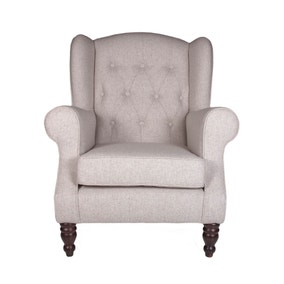 Chartwell Natural Button Back Armchair