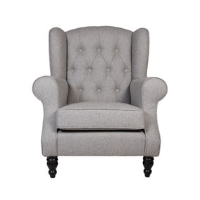 Chartwell Grey Button Back Armchair