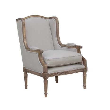 celine natural linen wingback chair dunelm. Black Bedroom Furniture Sets. Home Design Ideas