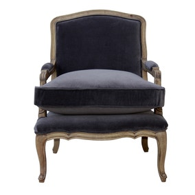 Sofia Grey Velvet Chair
