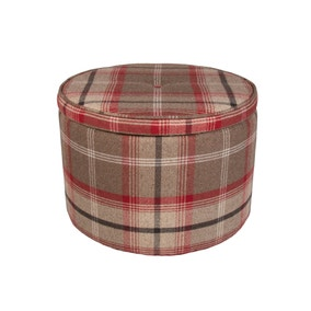 Bailey Balmoral Red Footstool