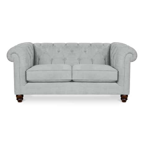 2 seater compact sofa Small white loveseat
