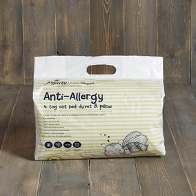 Fogarty Little Sleepers Anti Allergy 4 Tog Cot Bed Duvet and Pillowcase Set