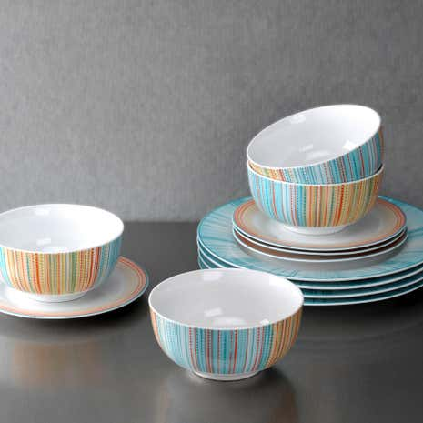 Portmeirion Studio Coral Stripe 12 Piece Set