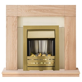 Malmo Brass and Oak Electric Suite
