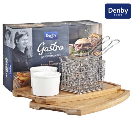 Denby James Martin Gastro Fish and Chip Serving Set