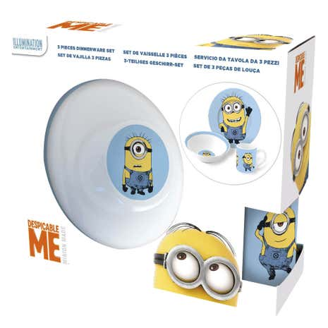 Disney Minions 3 Piece Ceramic Set