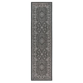 Black Traditional Flatweave Runner