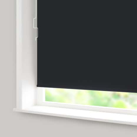 Black Blackout Cordless Roller Blind