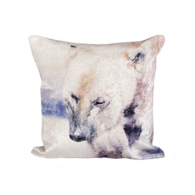 Watercolour Polar Bear Cushion