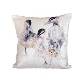 Watercolour Ducklings Cushion