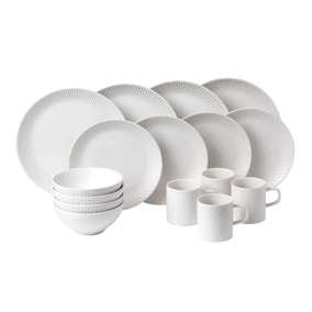 Royal Doulton White Hemingway 16 Piece Dinner Set