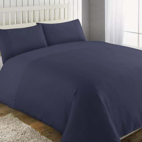 Waffle Denim Duvet Cover and Pillowcase Set