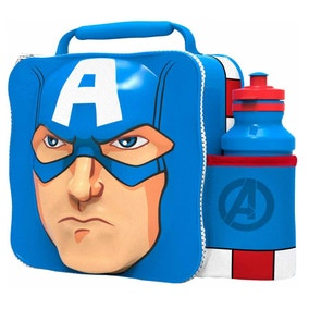 Marvel Captain America 3D Lunch Bag with Bottle Set