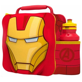 Marvel Iron Man 3D Lunch Bag with Bottle Set