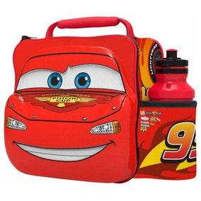 Disney Cars 3D Lunch Bag with Bottle Set