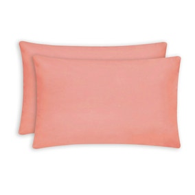 Essentials Coral Housewife Pillowcase Pair