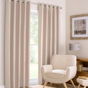 Montana Champagne Lined Eyelet Curtains