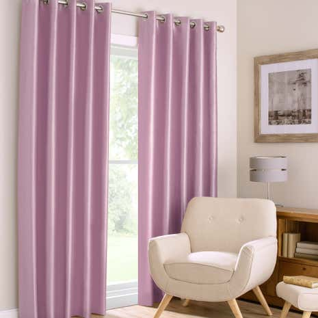 Montana Mauve Lined Eyelet Curtains