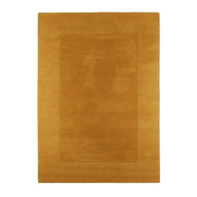 Ochre Boston Wool Border Rug