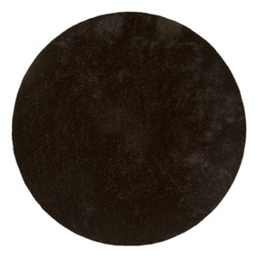 Black Indulgence Circle Shaggy Rug