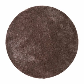 Mink Indulgence Circle Shaggy Rug