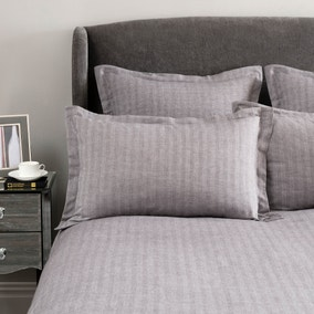 Hotel Herringbone Grey Oxford Pillowcase