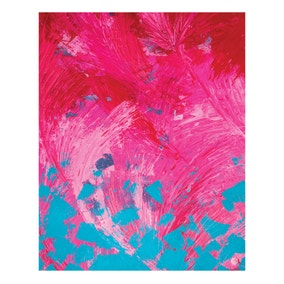 Giddy Art Pink Feather Framed Print