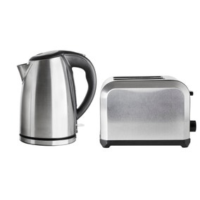 Brushed Steel Kettle and Toaster Set