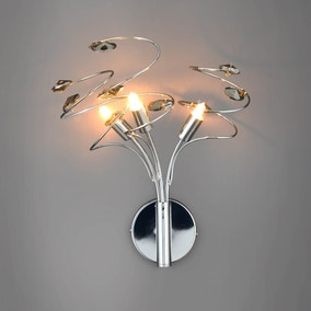 Rovello Smoke 3 Light Wall Light