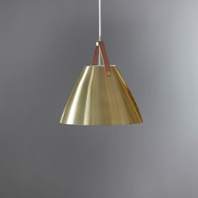 Strap 27 Brushed Brass Pendant