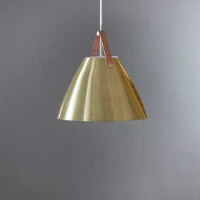 Strap 48 Brushed Brass Pendant